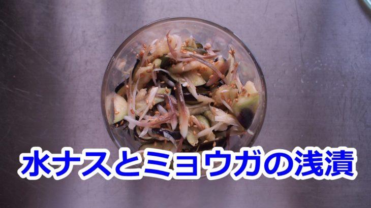 【動画】お弁当作り置き!水ナスとミョウガの浅漬